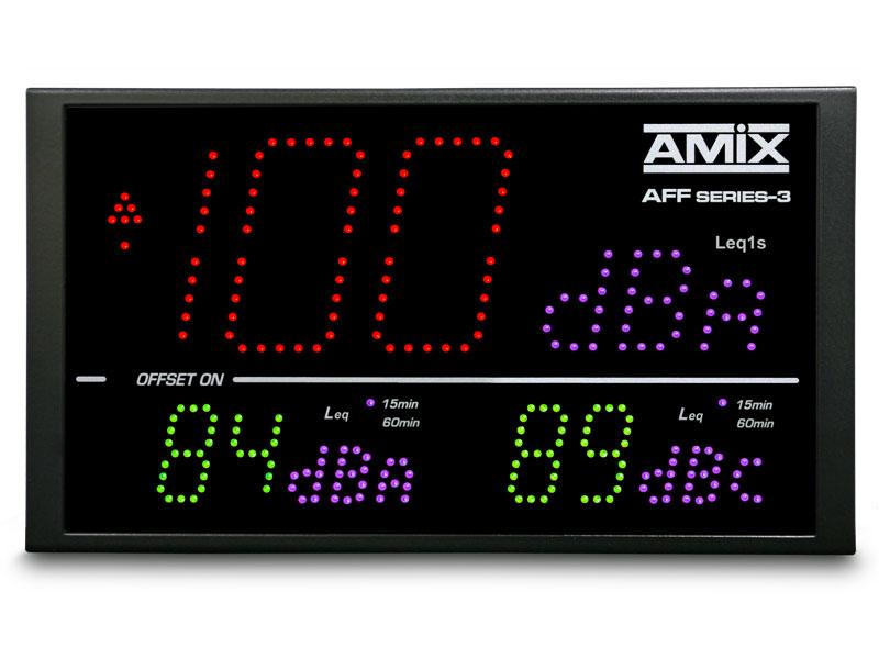 Afficheurs de niveaux sonores AMIX 4