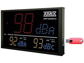Afficheurs de niveaux sonores AMIX 5